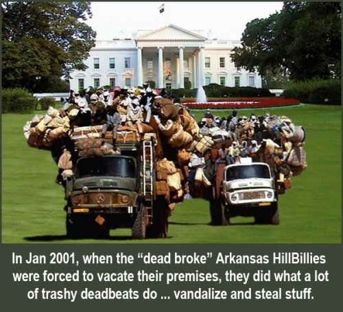 2001 Arkansas Hillbillies move out of WH