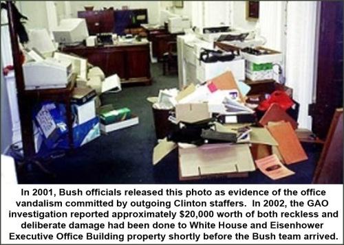 2001 Clinton staff damage