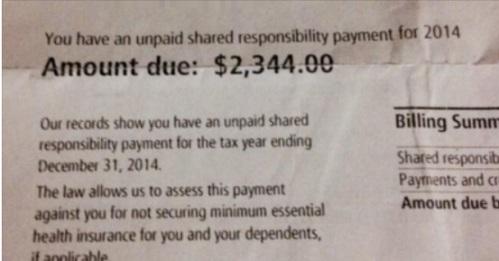 2014 IRS Obamacare fine