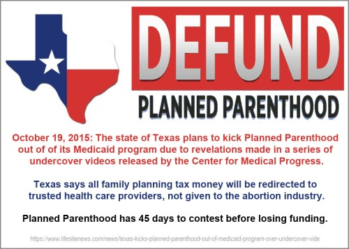 2015_10 19 Texas says no Medicaid for PP
