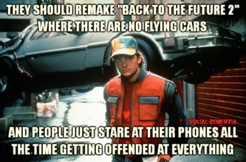 Back to the Future 2 offended