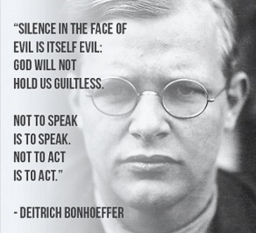 Bonhoeffer Silence in the face of evil