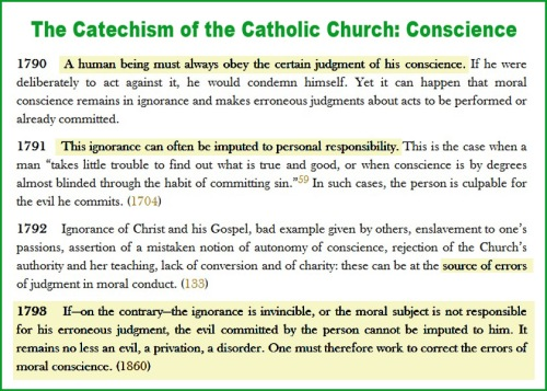 Catholic Catechism on Conscience