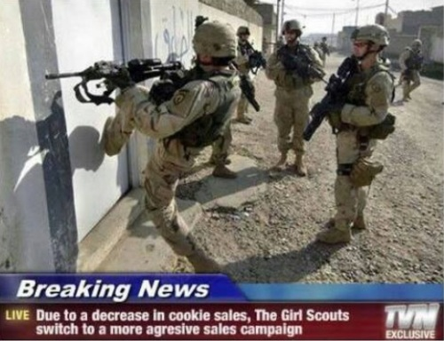 Girl Scouts get aggressive