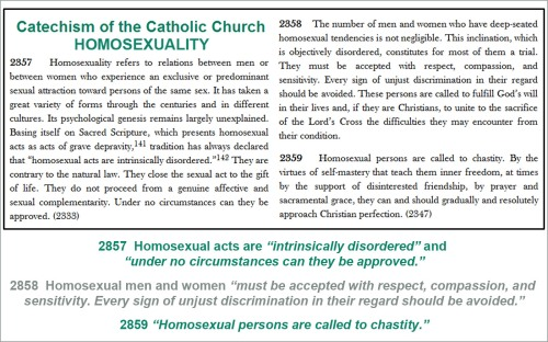 Homosexuality - Catholic teaching