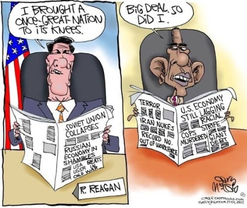 Reagan Obama nation knees