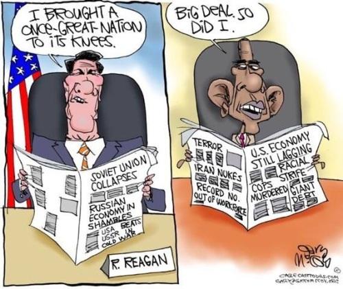 Reagan Obama nation knees