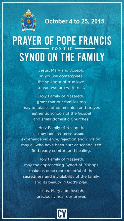 Synod prayer - Oct 4 to 25