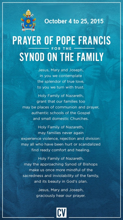 Synod prayer - Oct 4 to 25