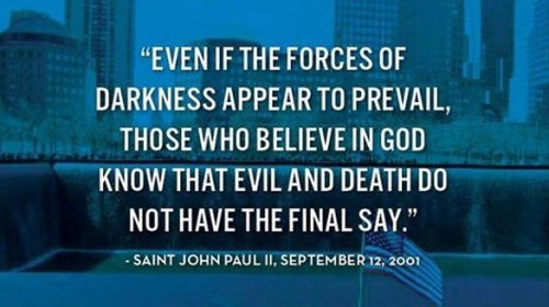 2001_09 12 JP II Evil does not prevail