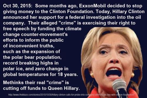 2015_11 02 Hillary targets ExxonMobil