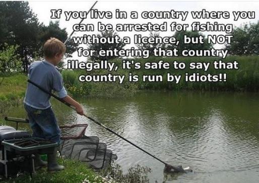 ILLEGAL fishing vs entrance