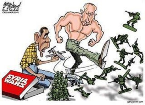 OBAMA PUTIN TOON toy soldiers PN