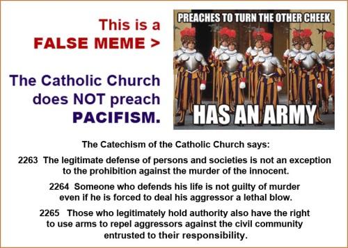 Pope's army false meme