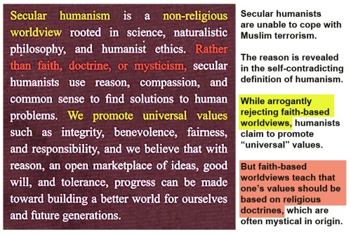 Secular humanism is