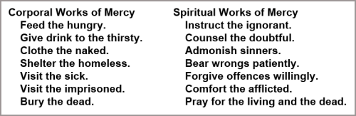 14 Works of Mercy