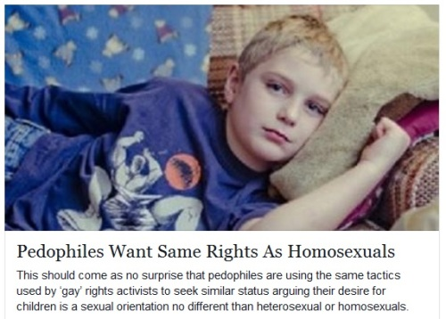 2015_12 Pedophiles want same rights as homosexuals