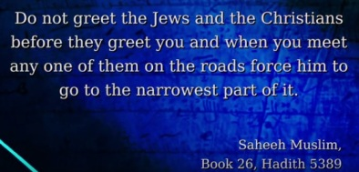 Hadith 25-5389 Do not greet J and C