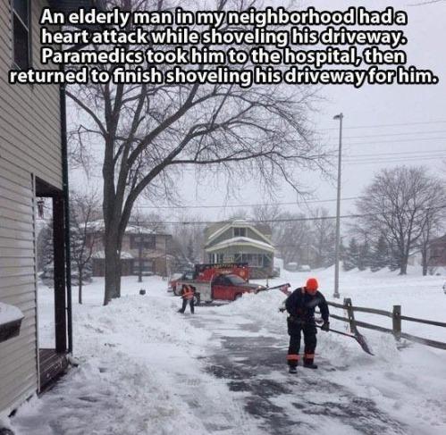 Paramedics shovel