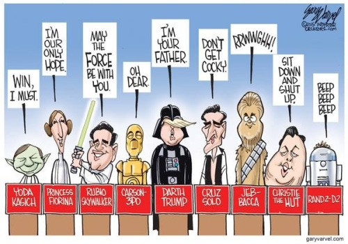 STAR WARS and GOP candidates