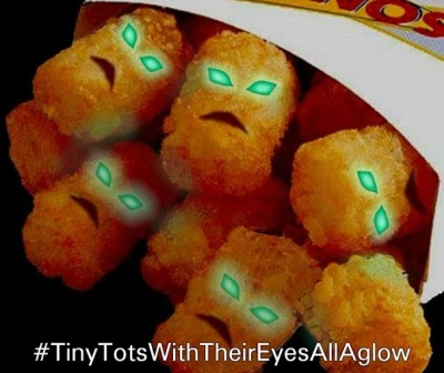 Tiny Tots with eyes aglow