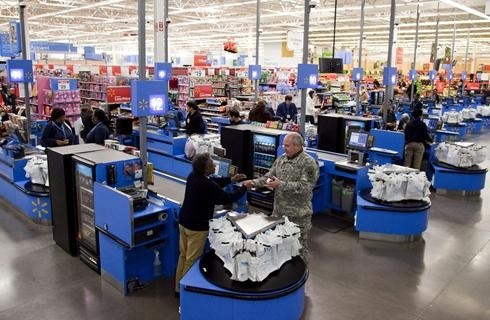 Walmart check out line