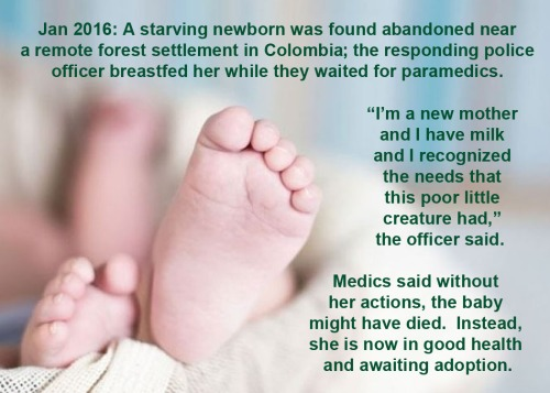 2016_01 cop breastfeeds abandoned newborn
