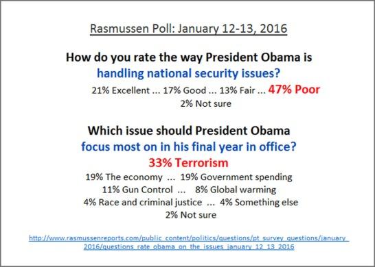 2016_01 Rasmussen poll - terror Obama