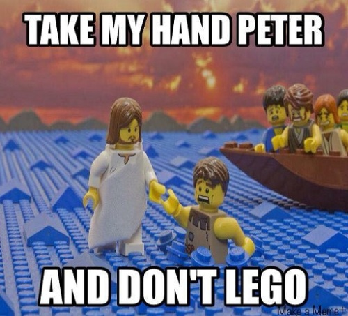 CHRISTIAN LEGO Jesus and Peter