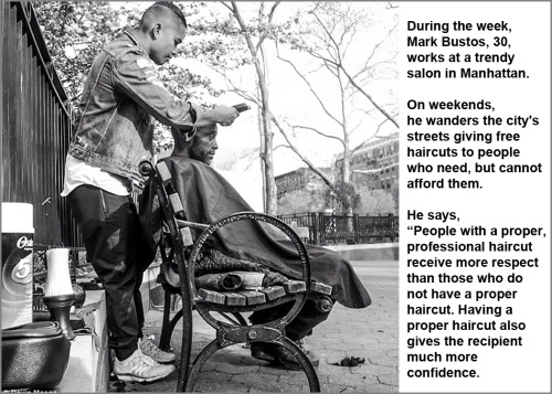 Haircuts for homeless