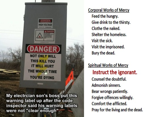MERCY Danger instruct the ignorant