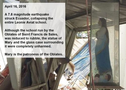 2016_04 16 Mary statue unharmed by earthquake