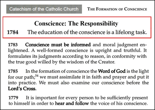 Conscience Responsibility
