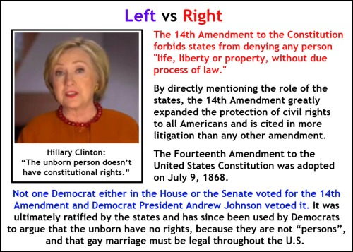 Left v Right 14th amendment