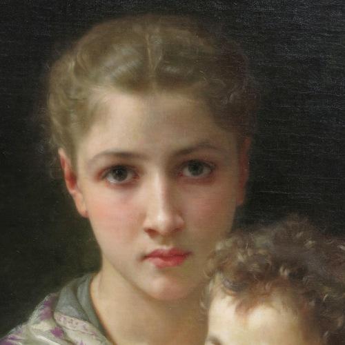 William-Adolphe Bouguereau 1825-1905 Les deux soeurs Tutt'Art@ (1)