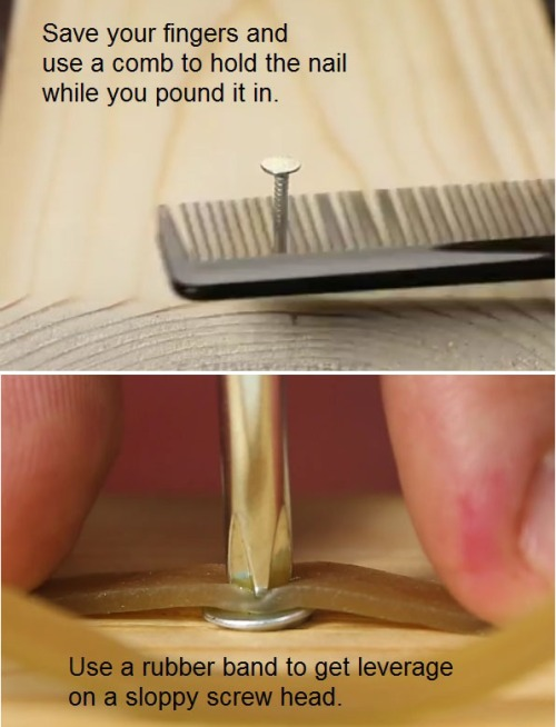 comb-nail-rubber-band-screw
