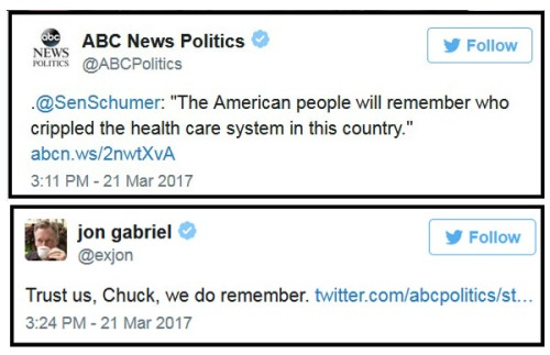 2017_03 21 Schumer tweet and response