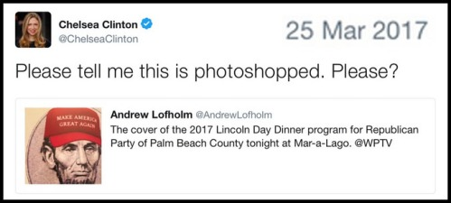 2017_03 25 Chelsea MAGA Lincoln tweet