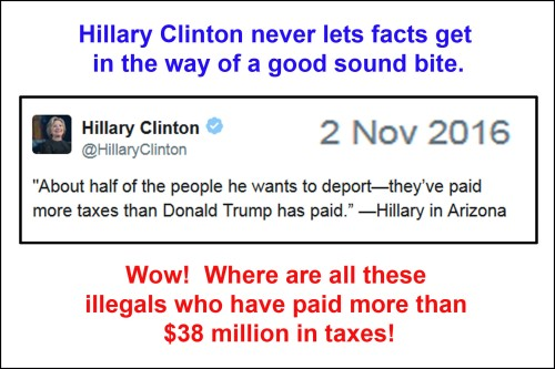Hillary sound bite - Trump tax