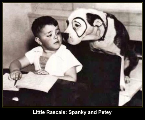 Little Rascals Spanky and Petey