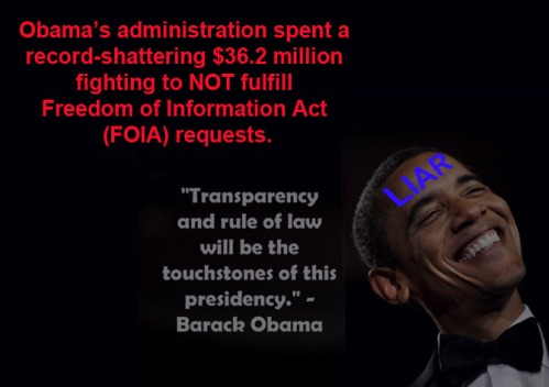Obama transparency NOT