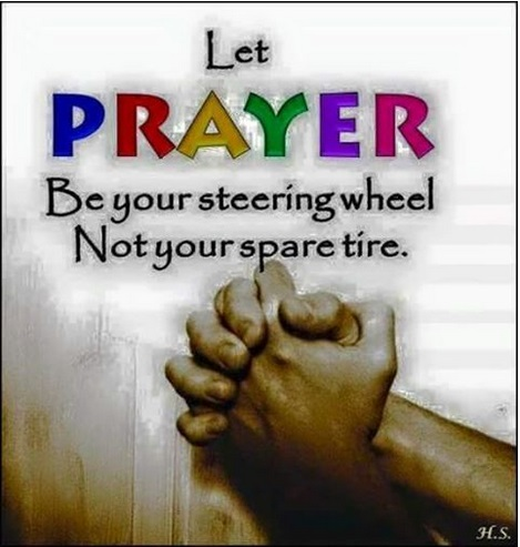 Prayer steering wheel not spare tire