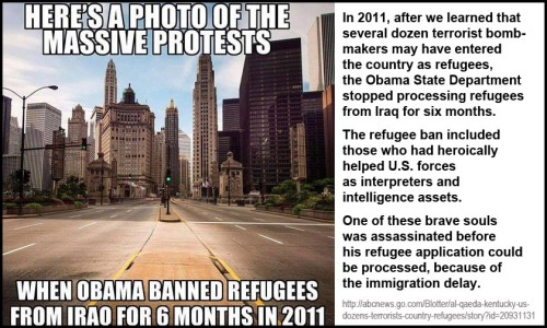 protests-after-obama-banned-refugees