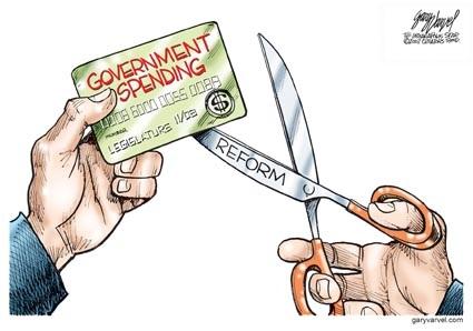 Reform govt spending toon