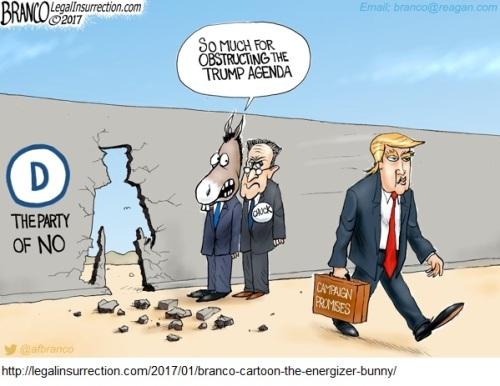 Trump Energizer Bunny toon by Branco