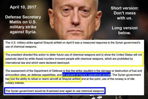2017_04 10 Mattis on Syria strike
