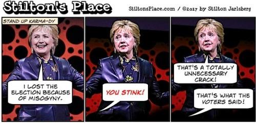 2017_04 10 Stilton on Hillary