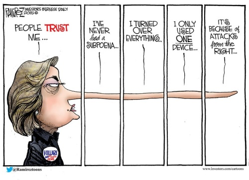 Hillary lies by Ramirez