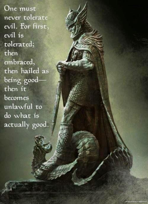 Never tolerate evil