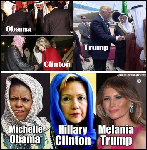 2017 Obama v Trump Muslim visits
